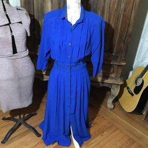 Pretty Royal Blue Vintage Dress